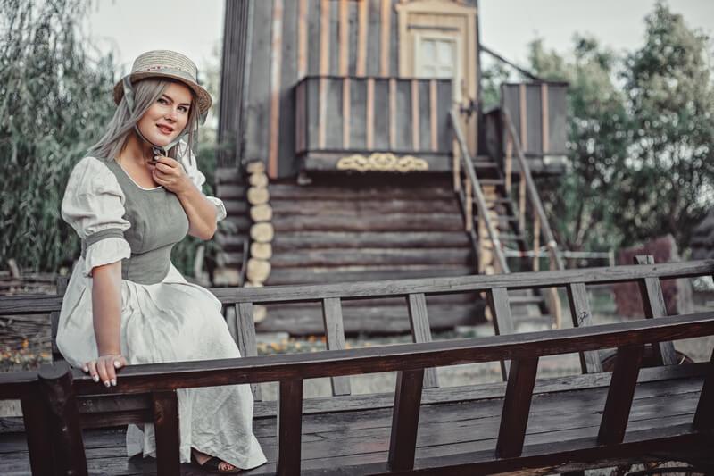 Деревенская фотосессия с историей