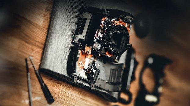 Фотоаппарат был в ремонте