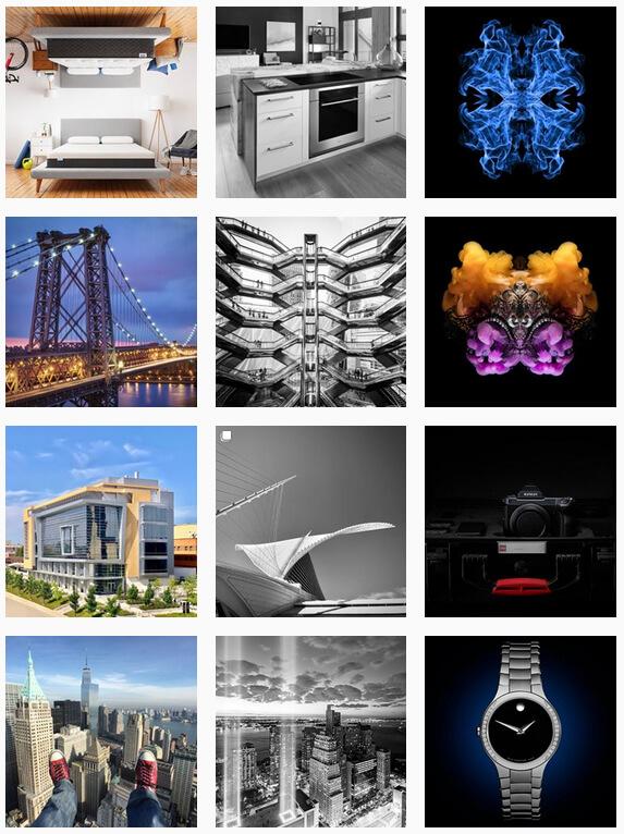 Инстаграм: дизайн столбиками