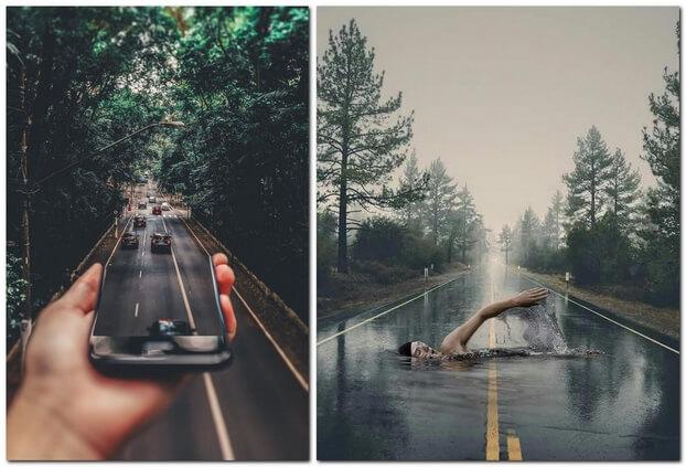 Необычные фото на улице