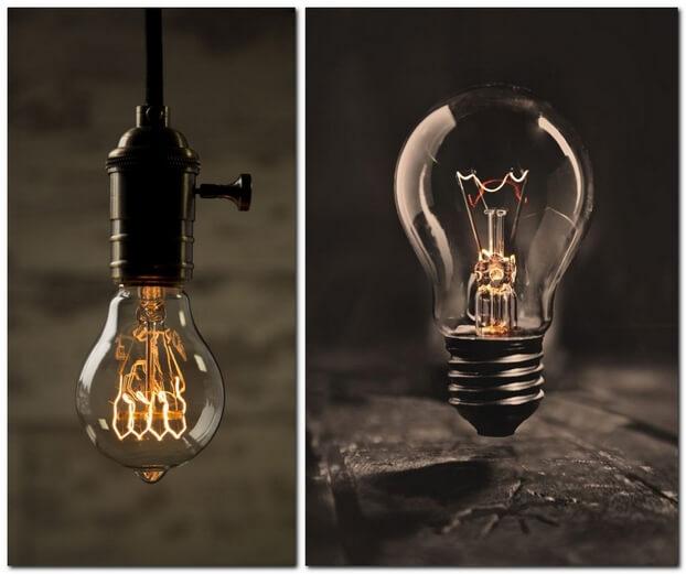 Фотографии лампочек
