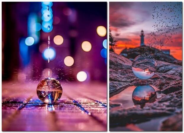 Фотографии со стеклянным шариком