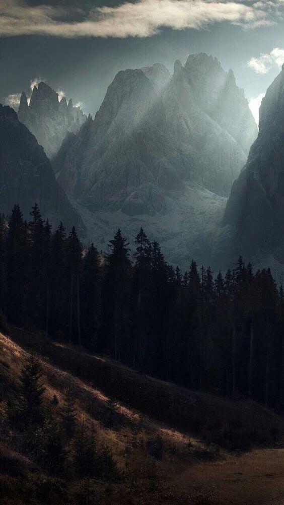 Горы зимой фото